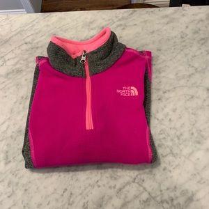 Girls North Face half zip fleece pullover